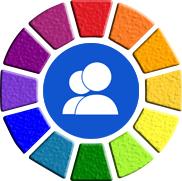 Kleurcircel-soc media